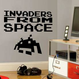 Adesivo de Parede Invaders From Space
