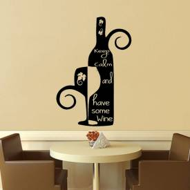 Adesivo De Parede Keep Calm And Have Some Wine