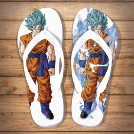 Chinelo Criativo Dragon Ball Goku Super Sayajin