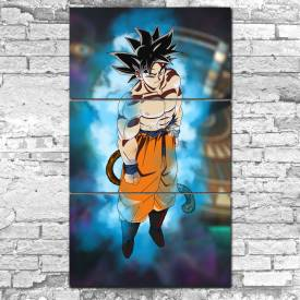 kit 3 placas decorativas dragon ball goku