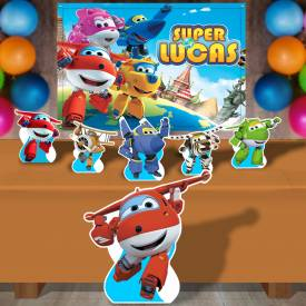 Kit Para Festa Totem E Banner Super Wings