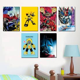 Placa Decorativa Infantil Transformers
