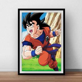Quadro Decorativo Dragon Ball Goku ao Ataque
